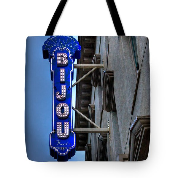 The Bijou Theatre - Knoxville Tennessee Tote Bag