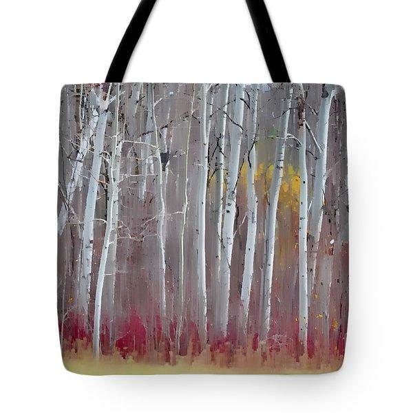The Birches - Single Tote Bag by Andrea Kollo