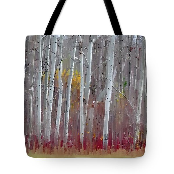 The Birches Panorama  Tote Bag by Andrea Kollo