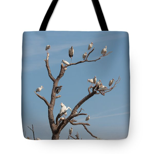 Tote Bag featuring the photograph The Bird Tree by John M Bailey