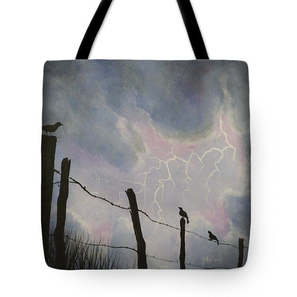 The Birds - Watching The Show Tote Bag