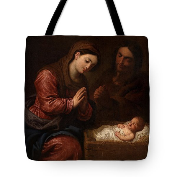 The Birth Of Christ Tote Bag by Frans II the Younger Francken