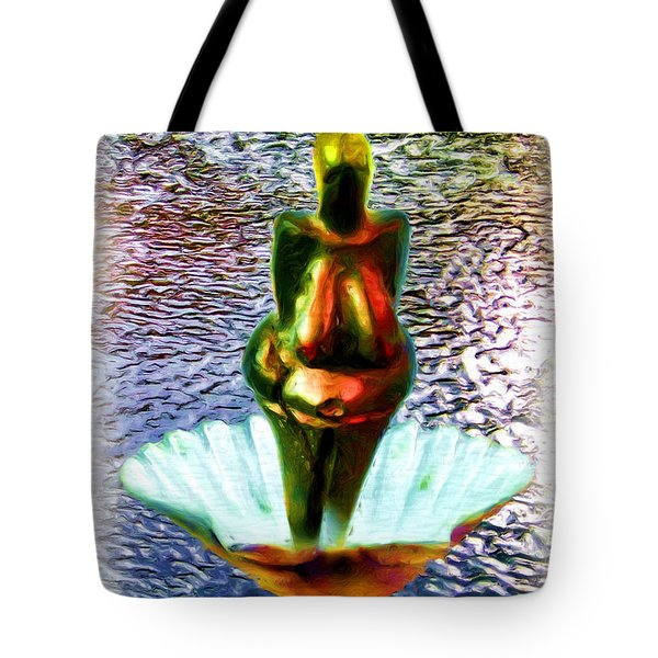Tote Bag featuring the digital art The Birth Of Vestonice Venus by Daniel Janda