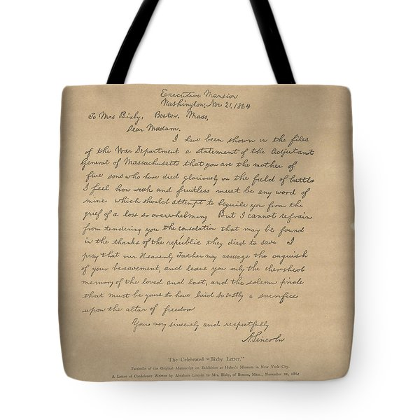 The Bixby Letter Tote Bag by Celestial Images