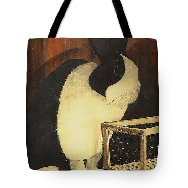 The Black And White Dutch Rabbit  2 Tote Bag