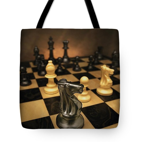 The Black Knight Tote Bag by Don Hammond