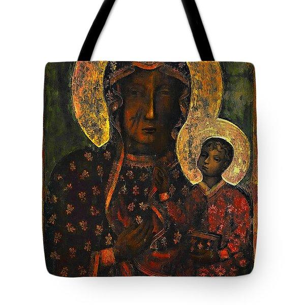 The Black Madonna Tote Bag by Andrzej Szczerski