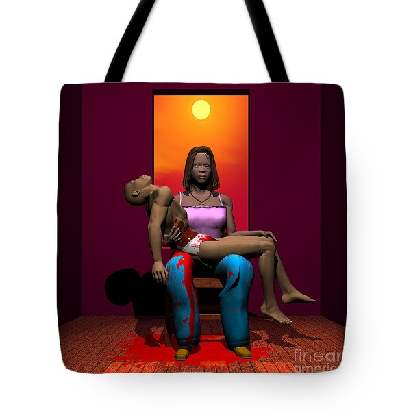 The Black Pieta Tote Bag
