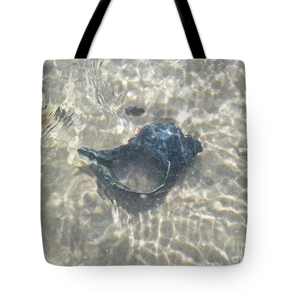 The Black Seashell Tote Bag by Mother Nature