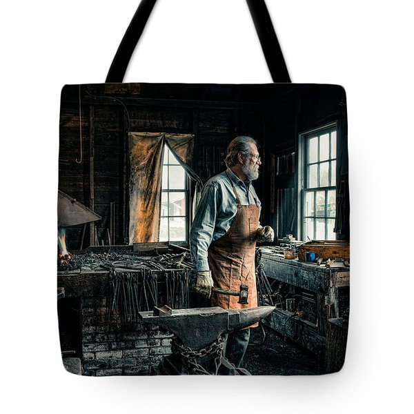 The Blacksmith - Smith Tote Bag by Gary Heller