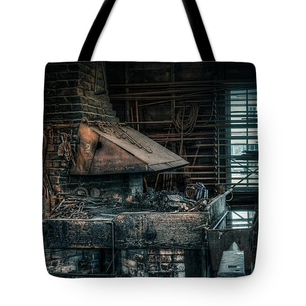 The Blacksmith's Forge - Industrial Tote Bag by Gary Heller