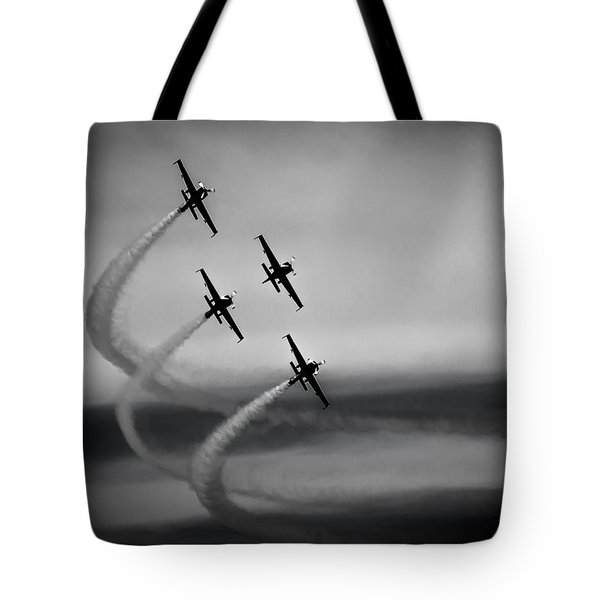 Tote Bag featuring the photograph The Blades In Formation Sunderland Air Show 2014 by Scott Lyons
