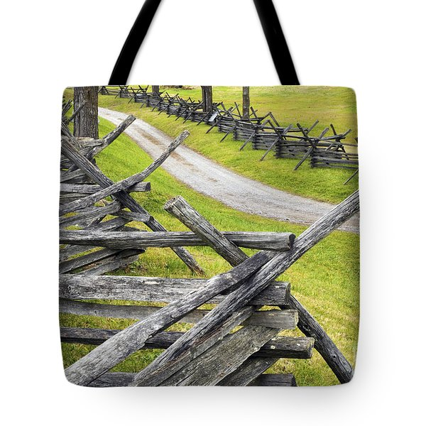 The Bloody Lane At Antietam Tote Bag by Paul W Faust -  Impressions of Light