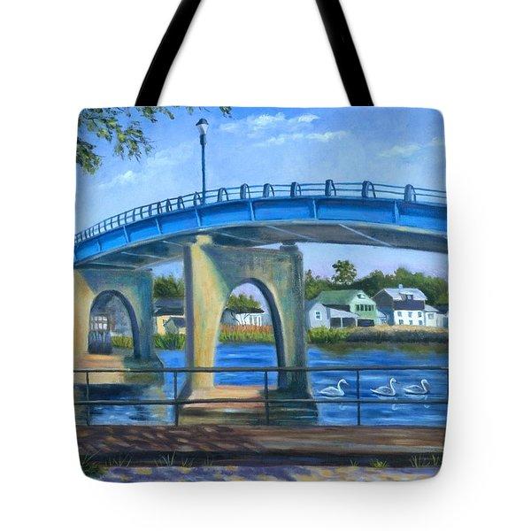 The Blue Bridge Tote Bag