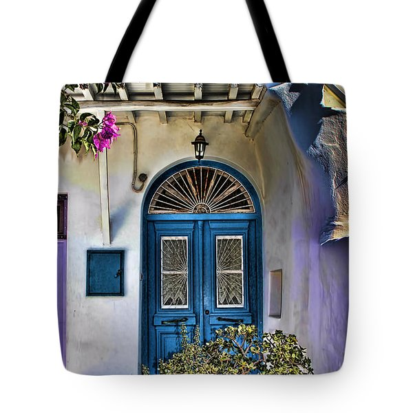 The Blue Door-santorini Tote Bag