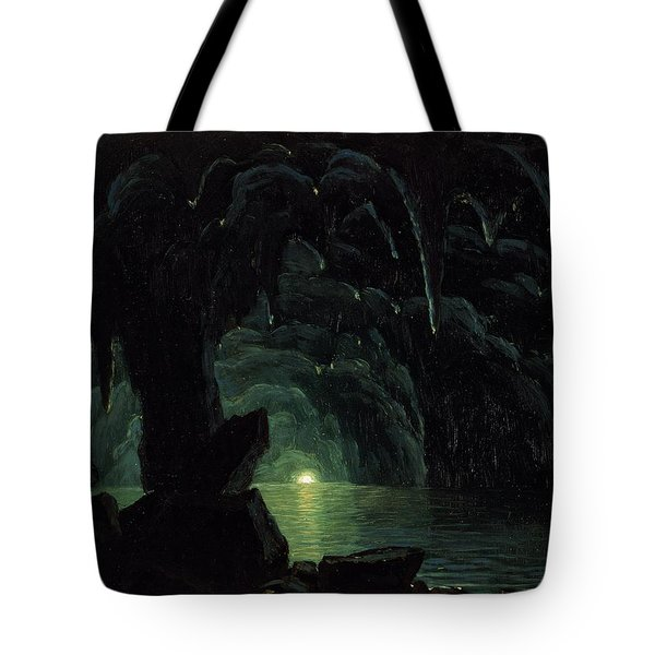 The Blue Grotto Tote Bag by Albert Bierstadt