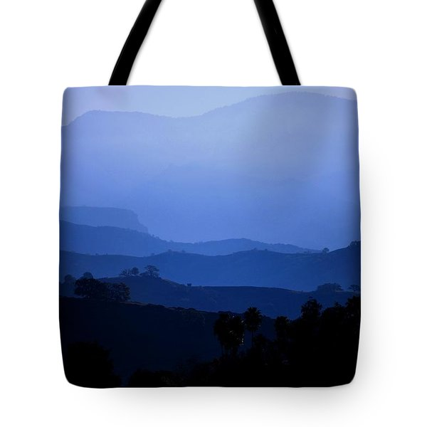 Tote Bag featuring the photograph The Blue Hills by Matt Harang