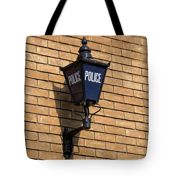 The Blue Lamp Tote Bag by Ron Harpham
