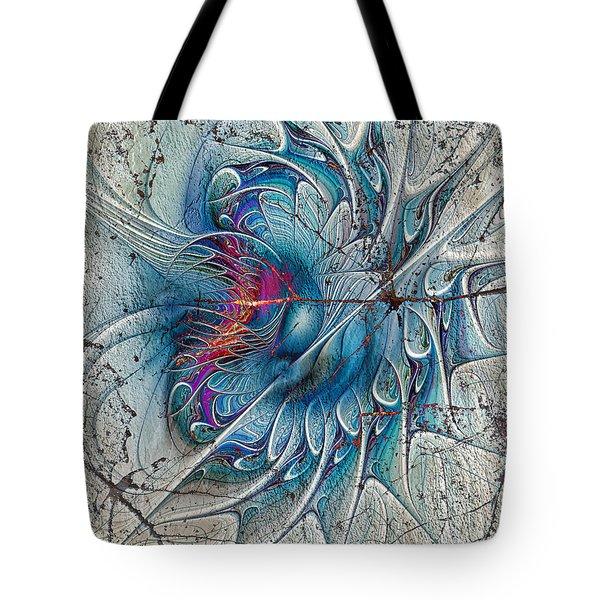 The Blue Mirage Tote Bag by Deborah Benoit