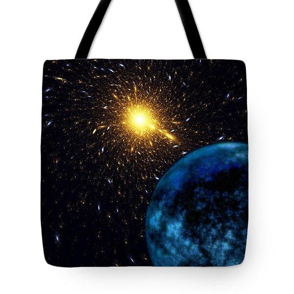 The Blue Planet Tote Bag by Klara Acel