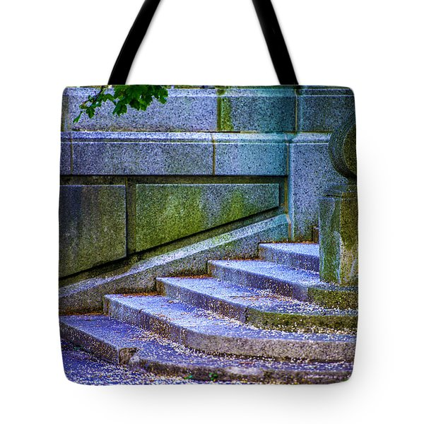 The Blue Stairs Tote Bag by Raymond Kunst
