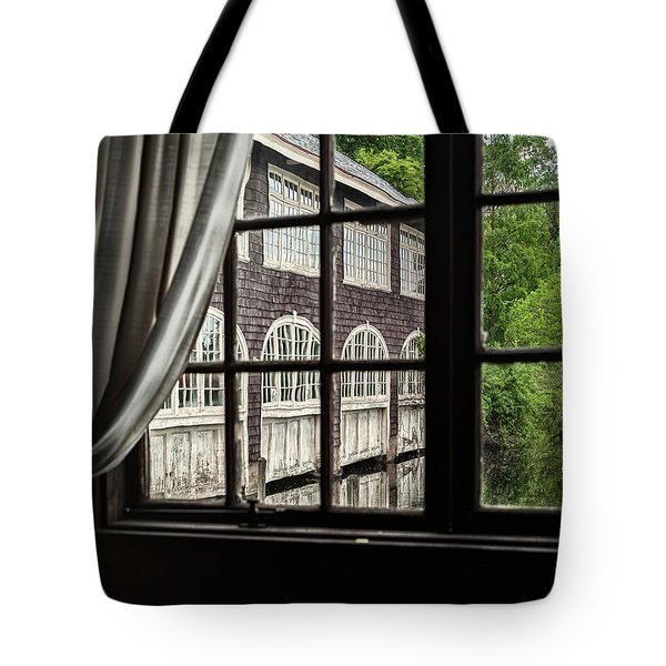 The Boathouse On Paradise Pond Tote Bag