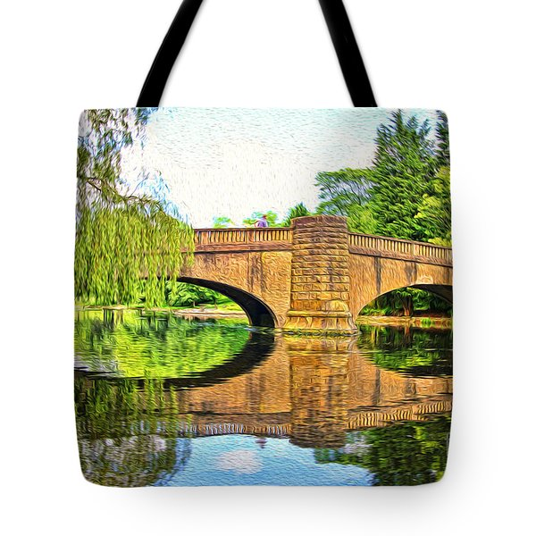 The Boating Lake At Thompson Park Burnley Tote Bag