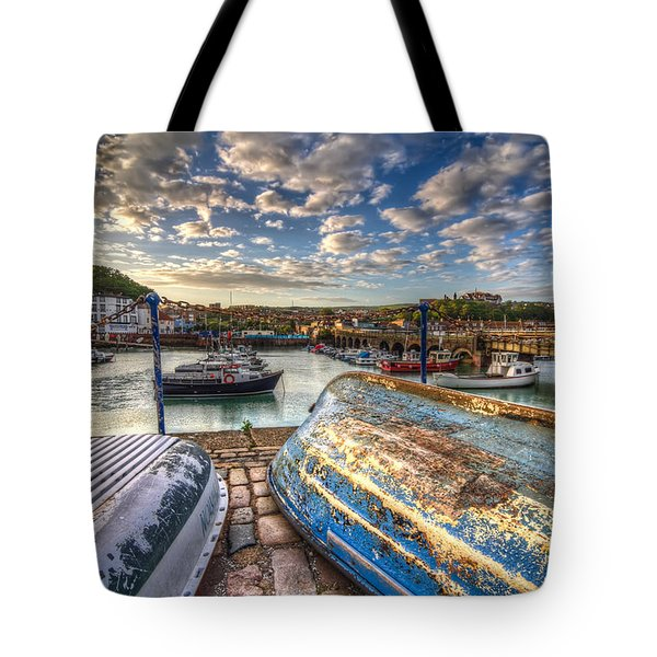 The Boats Of Folkestone Tote Bag by Tim Stanley