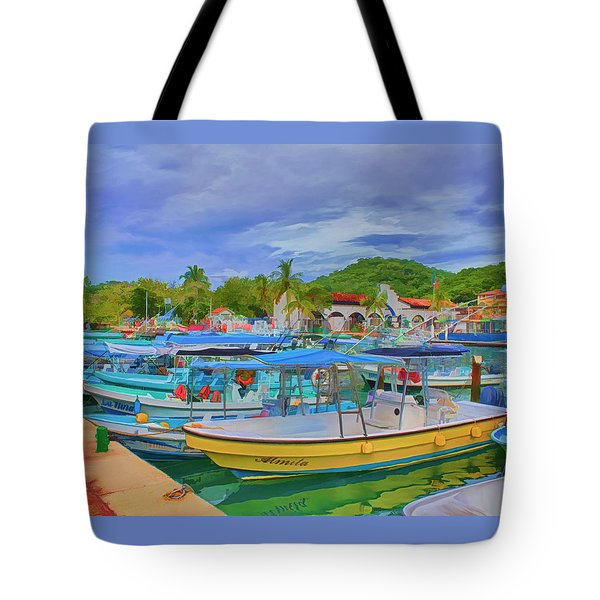 The Boats Of Hautulco Tote Bag