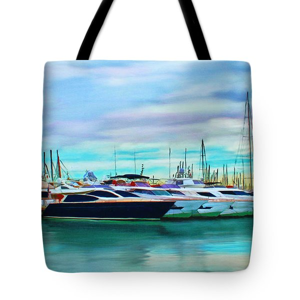 The Boats Of Malaga Spain Tote Bag