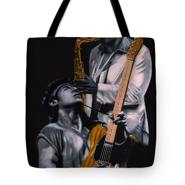Bruce Springsteen And Clarence Clemons Tote Bag