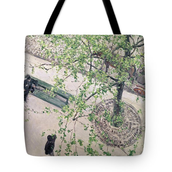 The Boulevard Viewed From Above Tote Bag by Gustave Caillebotte