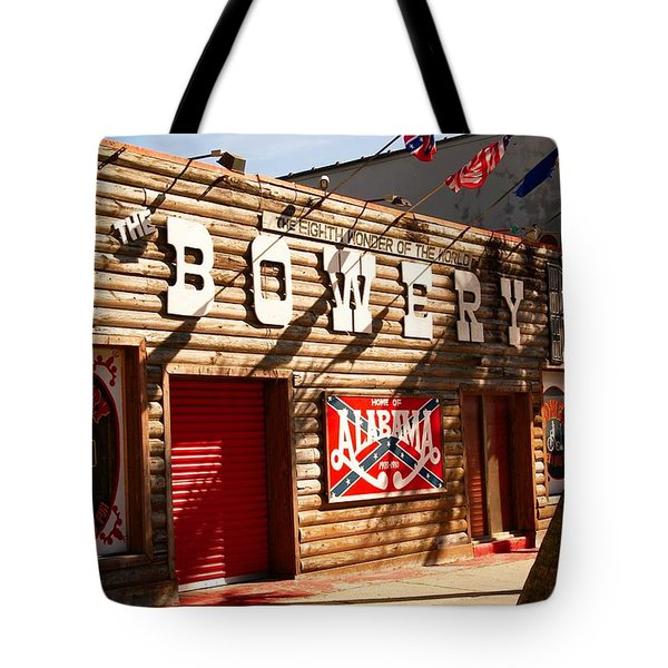 The Bowery Myrtle Beach Tote Bag