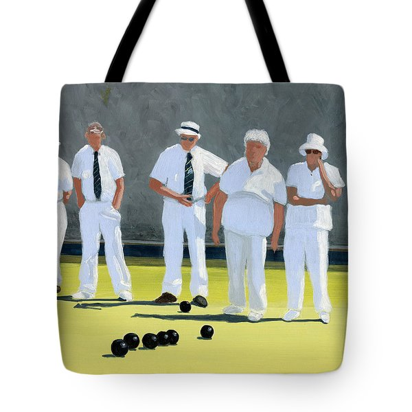 The Bowling Party Tote Bag by Karyn Robinson