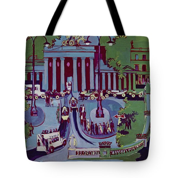 The Brandenburg Gate Berlin Tote Bag by Ernst Ludwig Kirchner