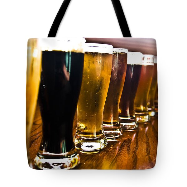 The Brew Line Up Tote Bag