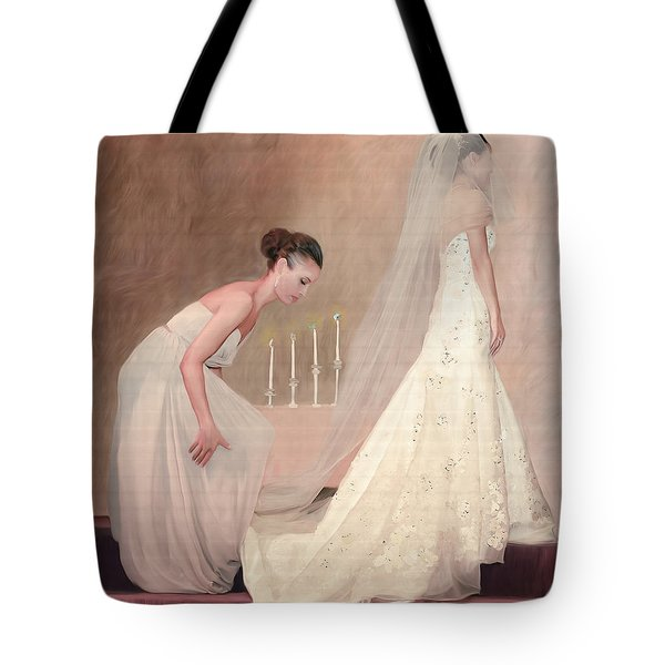 The Bride And Her Maid Of Honor Tote Bag by Angela A Stanton