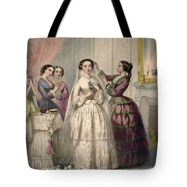 The Bride, Engraved By J. Battannier, 1852-53 Colour Litho Tote Bag