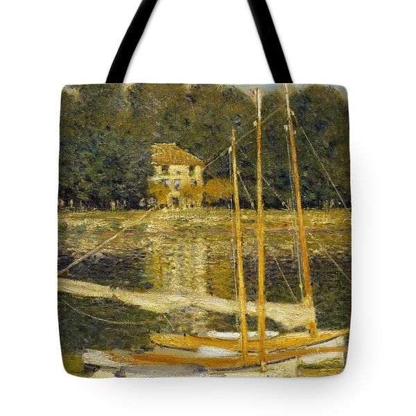 The Bridge At Argenteuil Tote Bag by Claude Monet