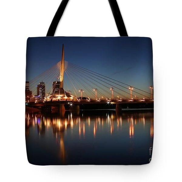 The Bridge Over Calm Waters Tote Bag by Teresa Zieba