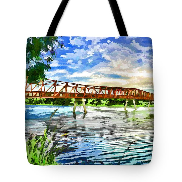 Tote Bag featuring the photograph The Bridge by Yew Kwang