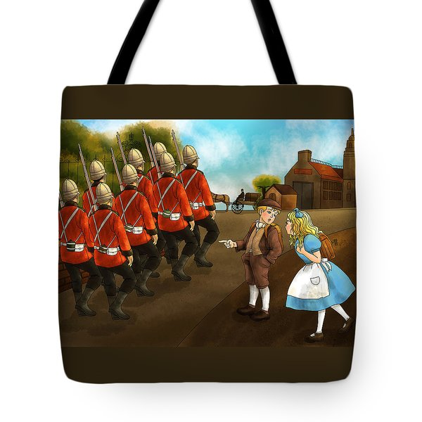 The British Soldiers Tote Bag by Reynold Jay