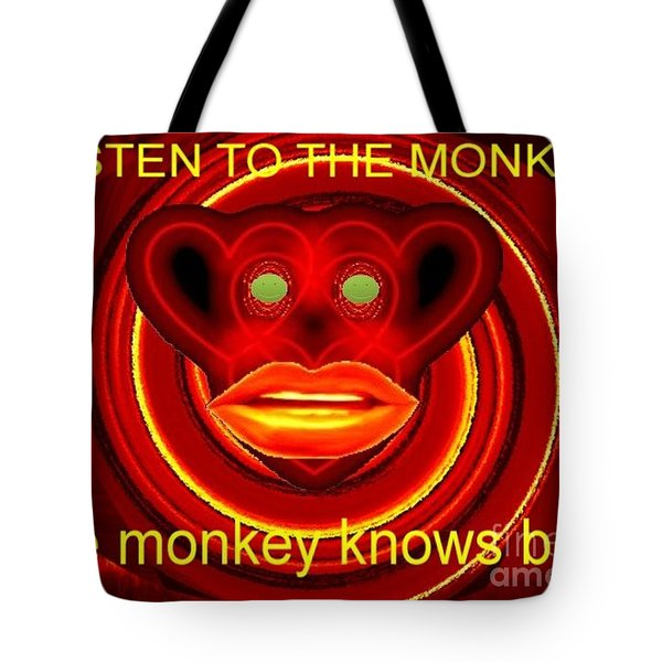The Broadcast Monkey Tote Bag by Catherine Lott
