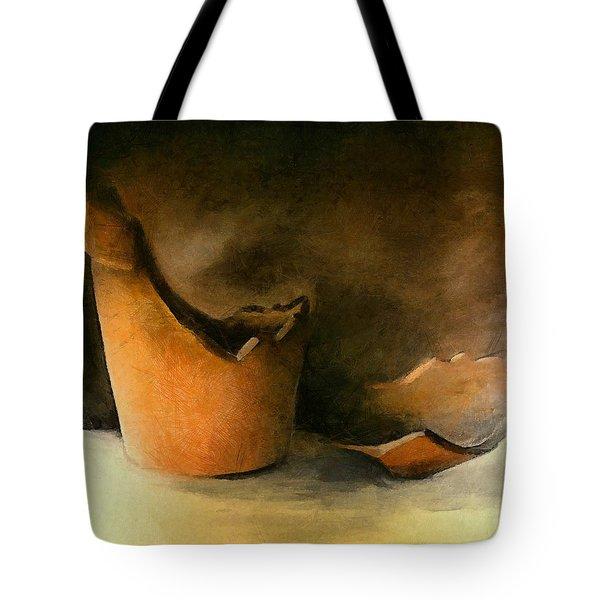 The Broken Terracotta Pot Tote Bag by Michelle Calkins