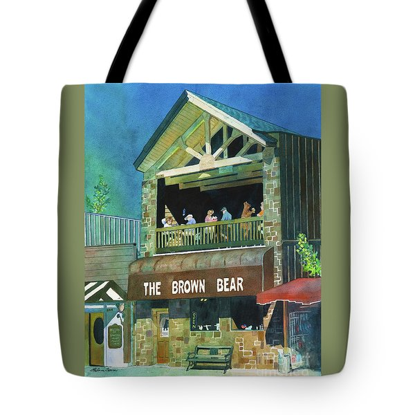 Tote Bag featuring the painting The Brown Bear by LeAnne Sowa