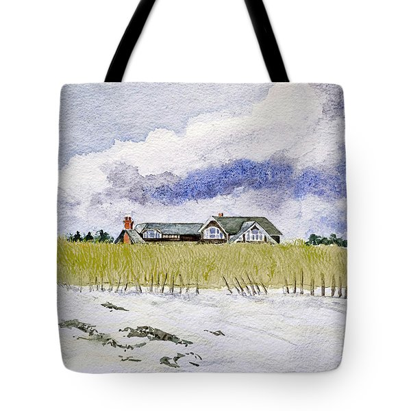 The Brown House On East Beach Tote Bag