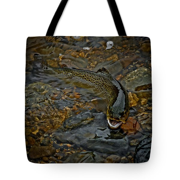 The Brown Trout Tote Bag by Ernie Echols