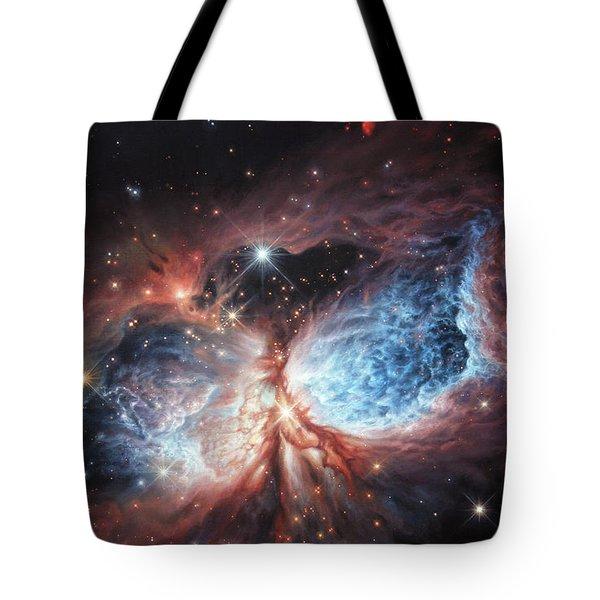 The Brush Strokes Of Star Birth Tote Bag