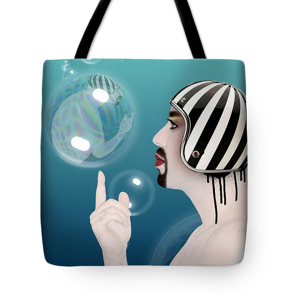 the Bubble man Tote Bag