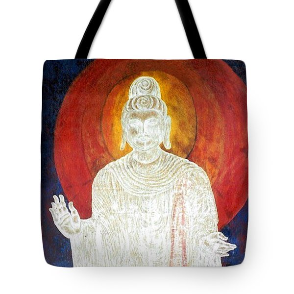 Tote Bag featuring the painting The Buddha's Light by Fei A